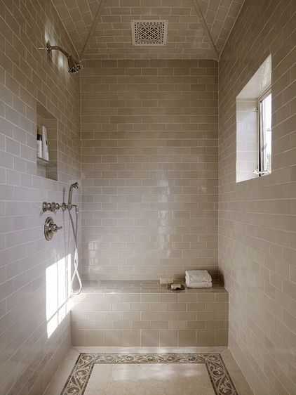 Truth in shower.  It is what it is.  Wet.  Set apart as it is, doesn't need door to keep clean.