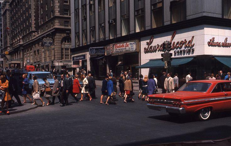 Saint-Catherine Street In 1968 | MTL Blog
