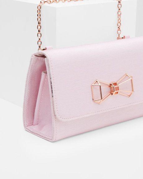 0822b95ca4 Geometric bow clutch bag - Pale Pink