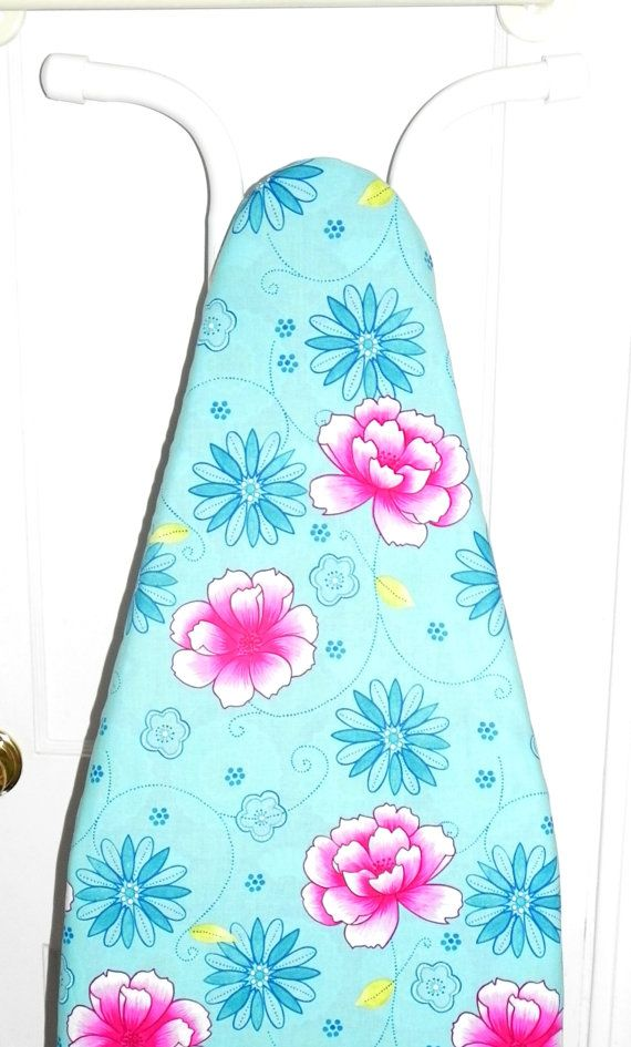 Ironing Board Cover  Tropical flowers in by GaranceCouture on Etsy