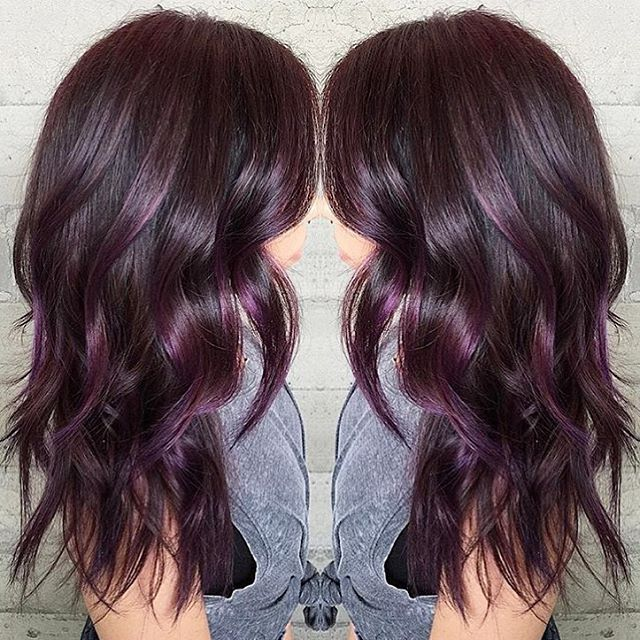 Aubergine... @pulpriothair colors... By Butterfly Loft stylist Masey @masey.cheveux