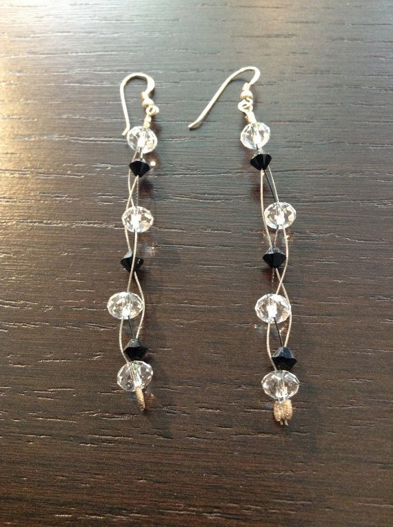 Earrings Swarovski & Sterling Silver Hammered Beads by ClarityGR, €13.50