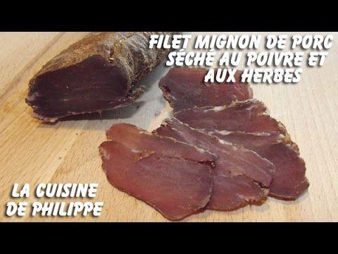 Filet mignon de porc séché au poivre et aux herbes - YouTube