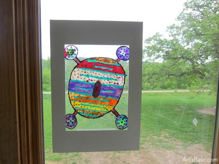 stained glass art project
