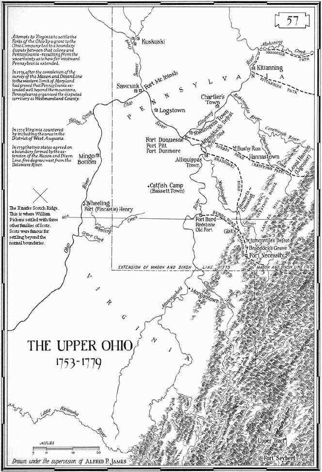 The Upper Ohio 1753 1779 Ohioenglishmaps