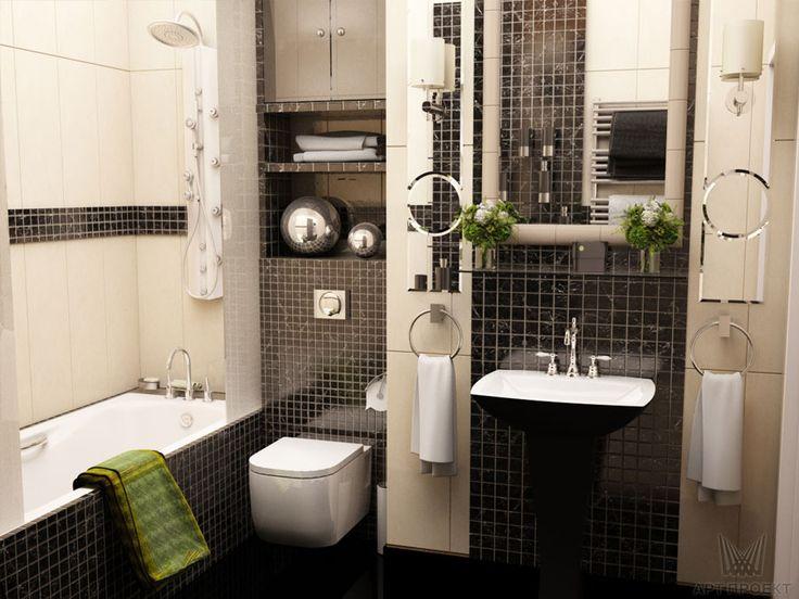 Визуализация интерьера ванной. Ракурс 2