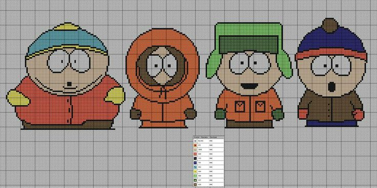 Canvases South Parks Simpsons,