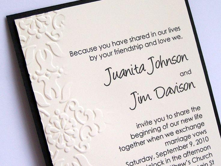 15 best Wedding Invitations images on Pinterest Invites, Wedding - invitation card for get together