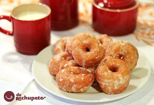 Rosquillas fritas recipe homemade donuts and postres for Postres faciles