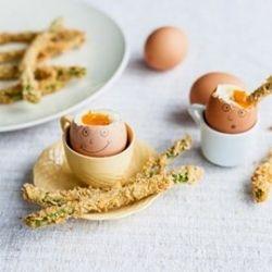 Adam Bennett's creates crispy asparagus soldiers to dip into boiled eggs in this brilliant kids recipe.