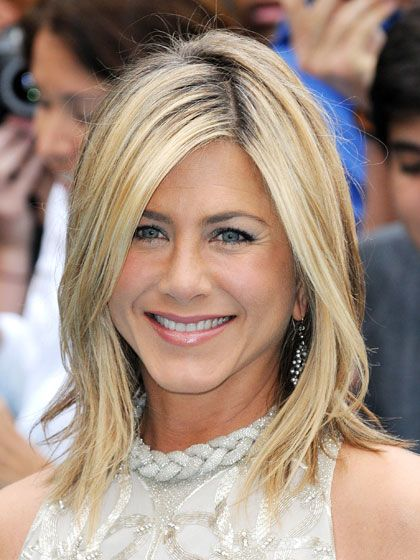 """CHOPPY  """"Jennifer Aniston's hair is shorter in the back, like an update on Julie Christie's in Shampoo,"""" says Buckett. This cut works well for many textures, but not curly hair—it will be too tough to style.    ALLURE TIP: Every face shape looks great with a shoulder-length cut, but if you have a short neck, keep the cut on the short side."""