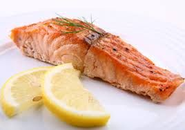 salmon,rice and a squeeze of lime.