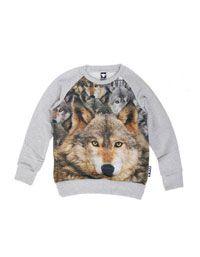 Grijze sweater met wolven - Wild