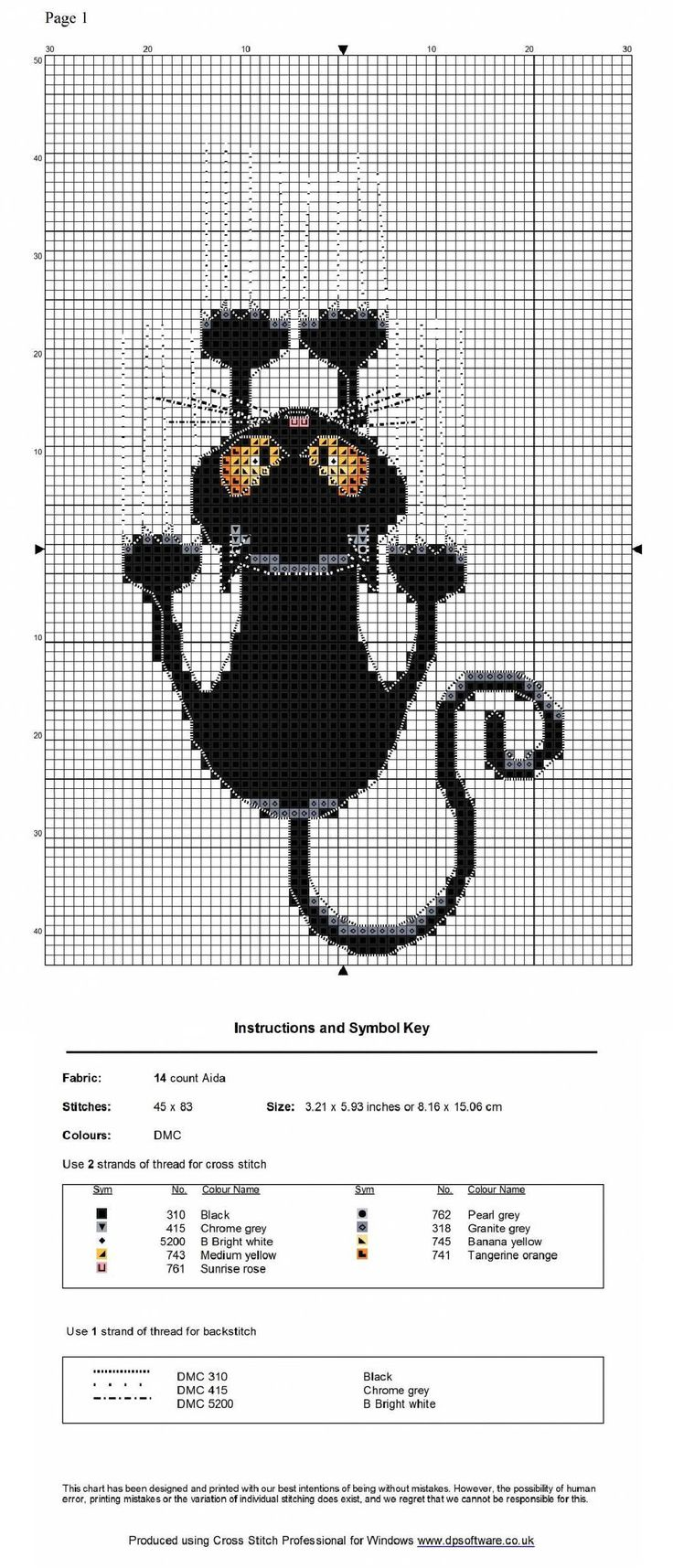 Cat clinging to ceiling graph pattern