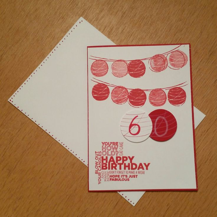 Happy 60th birthday card Stampin up