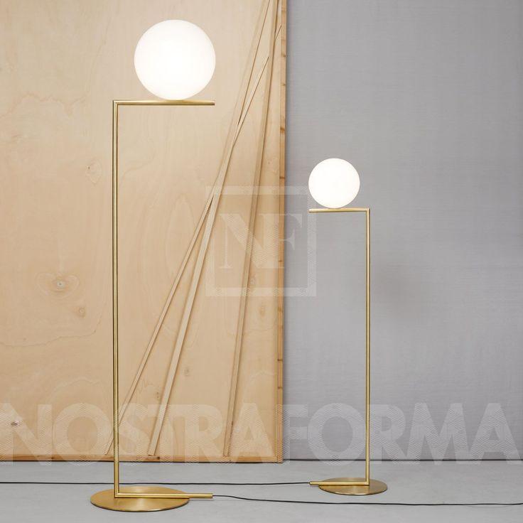 Flos IC Light F1 lampadaire » Design Luminaires Contemporains, Lampes & Mobiliers » NOSTRAFORMA.
