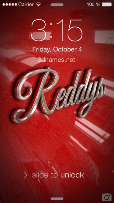 Preview of Car Paint for name: Reddys | Images Wallpapers