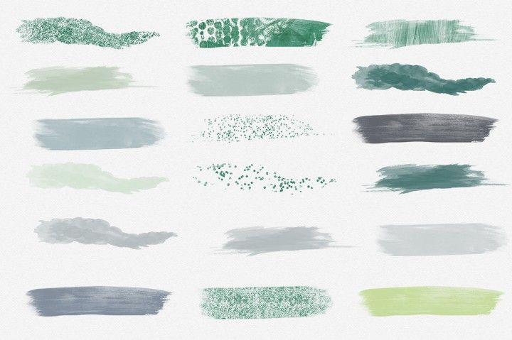 Free Holly Jolly Watercolor Brush Strokes Set By Thehungryjpeg