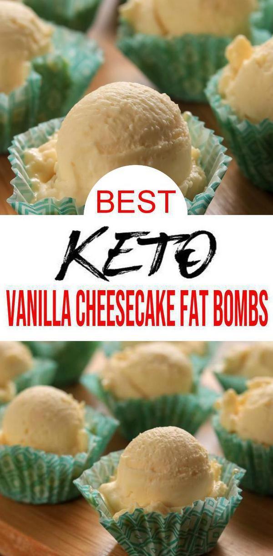 5 Ingredient Keto Vanilla Fat Bombs – BEST Vanilla Cheesecake Fat Bombs – NO Bake – Easy NO Sugar Low Carb Recipe
