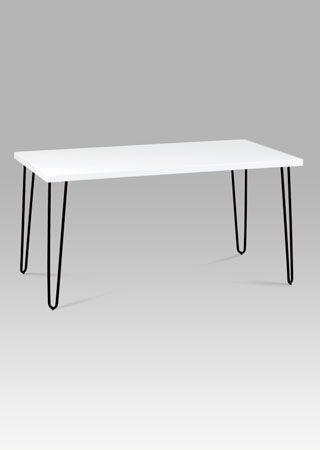 GDT-561 WT  Moderní jídelní stůl v elegantní kombinaci černé a bílé barvy. Rozměr stolu je 150x80 cm.