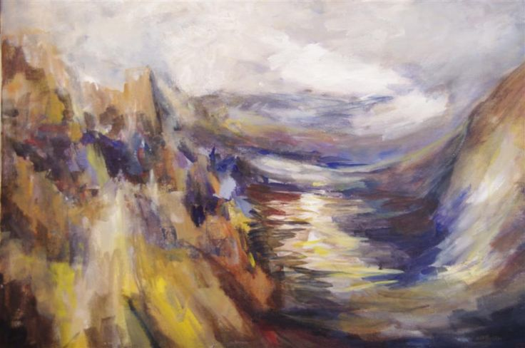 Searching for Mr. TThe artwork is based on my reflection of a work by Turner that has long captured my imagination. I often wonder what his work would be like today were he still alive. I have tried to be less constrained than usual and show a greater degree of expression in my work. The composition is still sound but the execution is contemporary.
