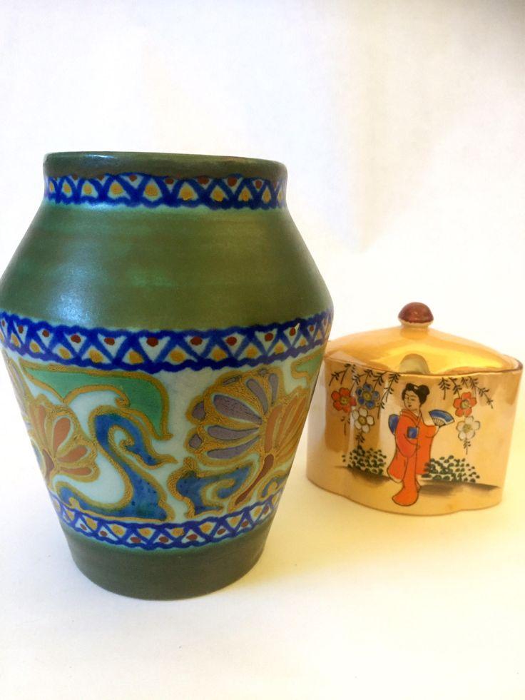Rare/1921/Gouda/vase/crocus/art nouveau/art deco/style by WifinpoofVintage on Etsy