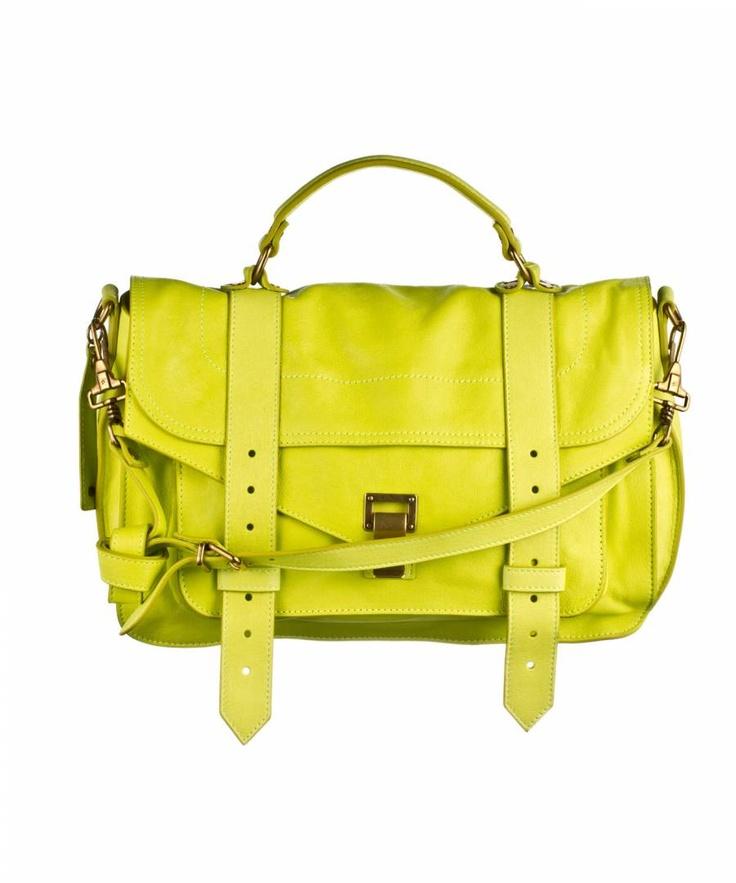 Proenza Schouler PS1 Medium Leather Lemon
