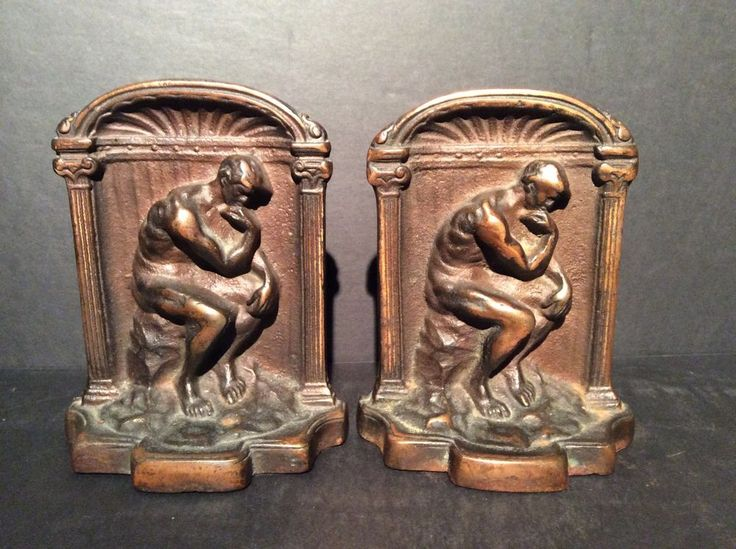 Details about antique armor bronze bookends man thinking 5 1 2 inch bookends armors and antiques - Armor bronze bookends ...