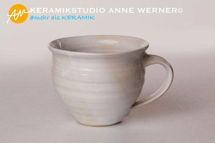 Tasse#BEATRIX weiß Keramik Handmade KERAMIKSTUDIO ANNE WERNER©
