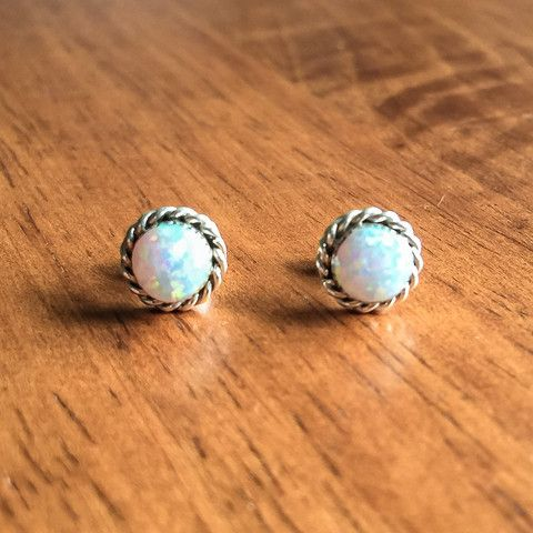 Zuni White Opal Earrings | Bohemian Jewels | Indie and Harper