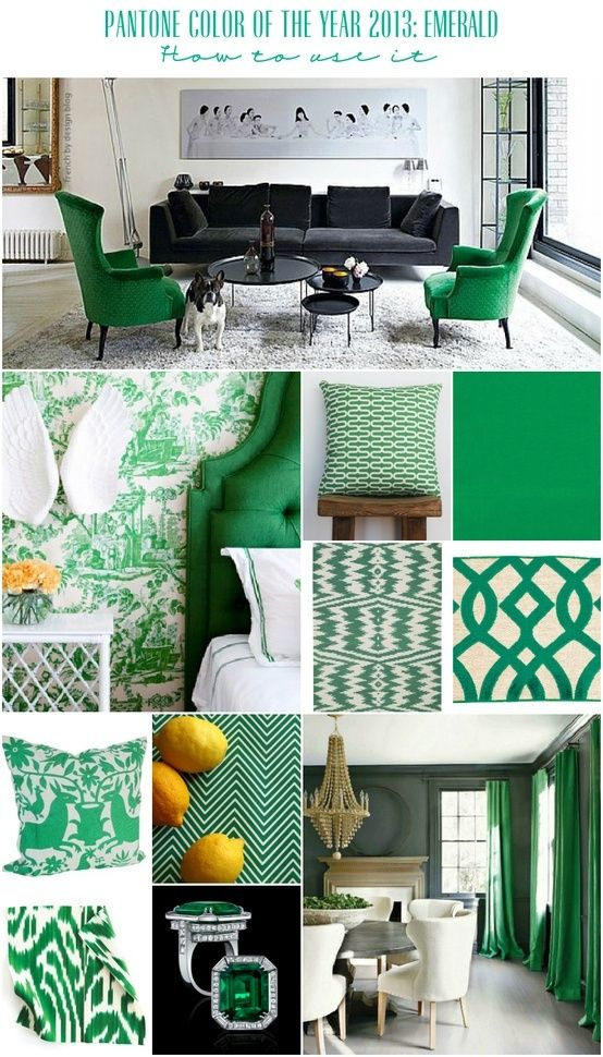 emerald green decor | Emerald Green Home Decor | Emerald Green - Color of the year 2013 I could fill my house with this color!