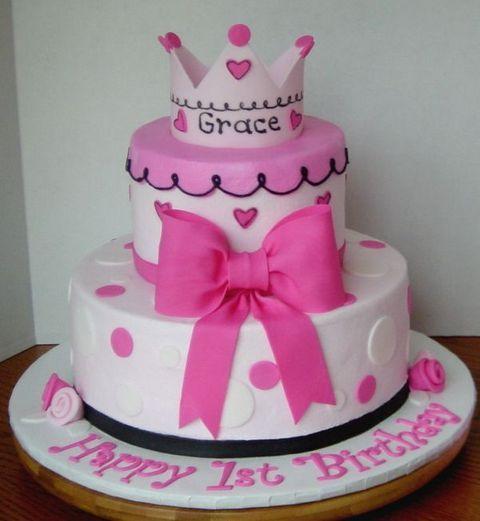 1stbirthdayprincessthemecakes First Birthday Cakes For Girls