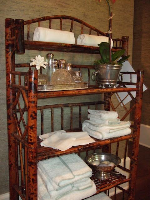 bamboo is great for a bamboo shelf for Beautifully styled bathroom storage & organization