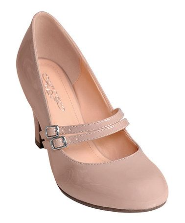 Take a look at this Blush Patent Wendy Mary Jane Pump by Journee Collection on #zulily today!
