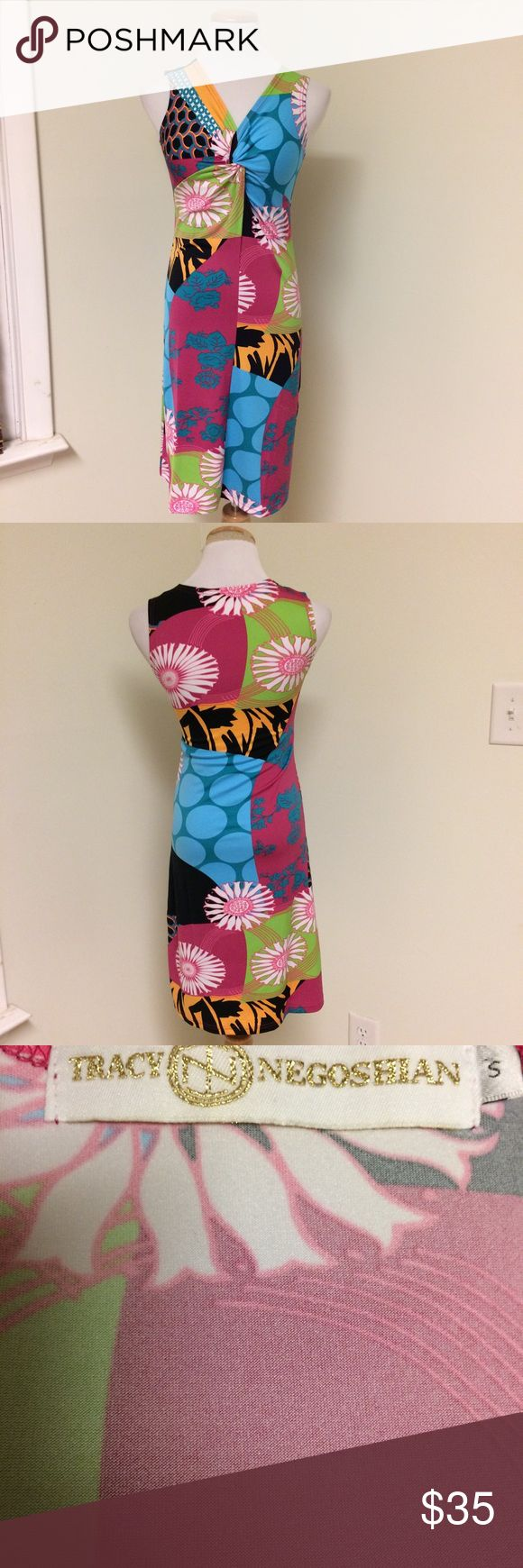 Just In! | Tracy Negoshian | Printed Shift Dress Fantastic printed shift dress from Tracy Negoshian. Designer has a very similar style to Lily Pulitzer. The dress is colorful, stretchy, and has a knotted bodice. Excellent condition. Tracy Negoshian Dresses
