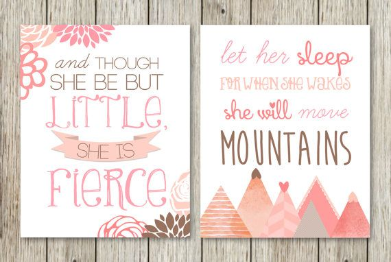 Instant Download Printables  She is fierce & by CoCoStineDesigns, $9.00