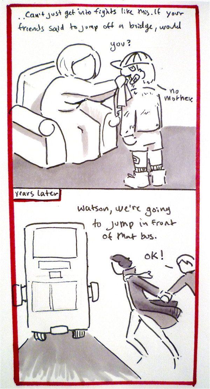 BBC Sherlock comic: bit too loyal by Graphitekind.deviantart.com on @deviantART