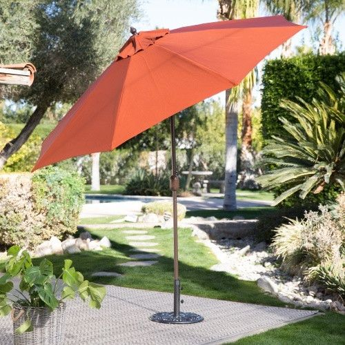 Coral Coast 9-ft. Push Button Tilt Wind Resistant Patio Umbrella - Patio Umbrellas at Hayneedle