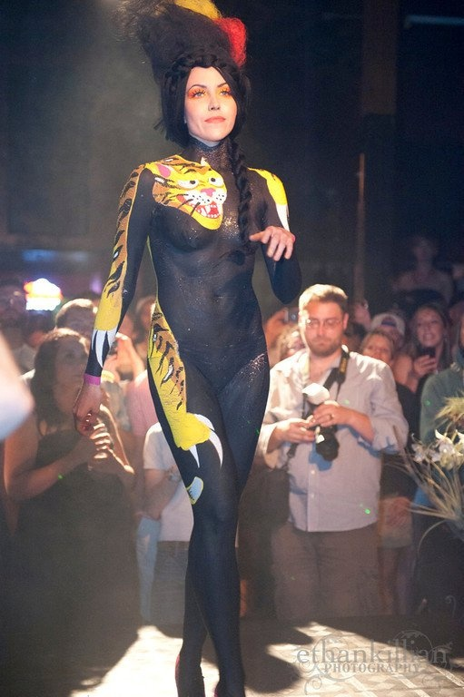 Model: Deena Marie Body Paint: Gailon Justus Black ...