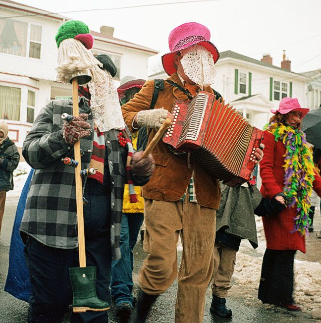 Mummers at the St. John's Annual Mummer Parade.