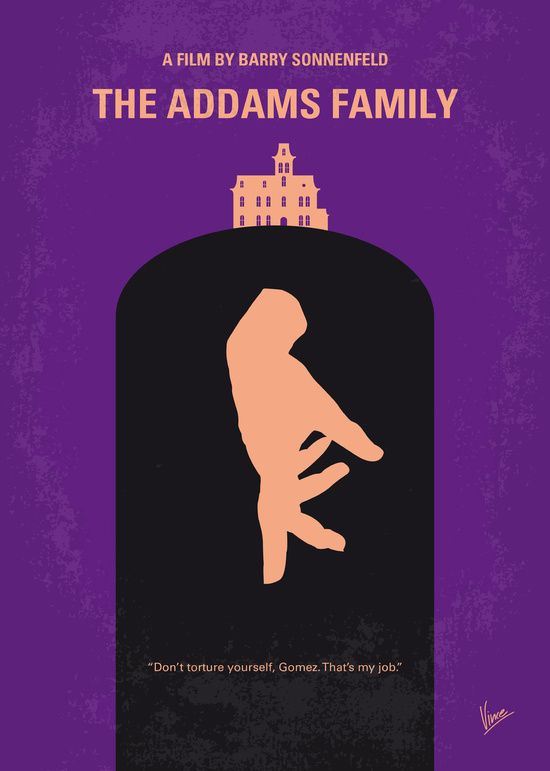 No423 my the addams family minimal movie poster art print for Minimal art family
