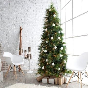 Green Feather Cashmere Pine Christmas Tree.