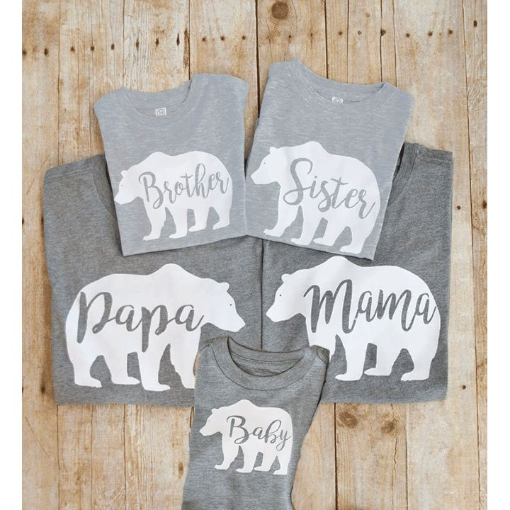 Momma Bear and Family Shirts Poppa