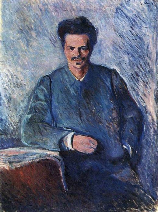 August Strindberg - 에르바르트 뭉크  뭉크가 1892년 베를린에 있을 때 만난 극작기인 스트린드베리의 초상화    장난스럽고 농담을 좋아하는 사람같다. 짓궂은 농담을 잘 던지고 얄미운 사람. 타인에게 잘해주고 잘 도와주는척하지만 언제든지 배신을 할 수 있을 것같고 뒤통수 칠 수 있을것처럼 생겼다.