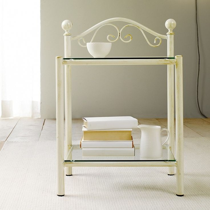 Vintage shabby chick bedside table Lina by Cossato