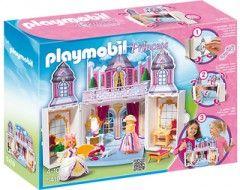 Bienvenue dans le merveilleux pavillon de princesse ! Habille-la complètement grâce aux accessoires du Coffre Princesse (5419) de Playmobil. Fini de jouer ? Ferme le coffre et obtiens une boîte de rangement. Avec 1 figurine et de nombreux accessoires.