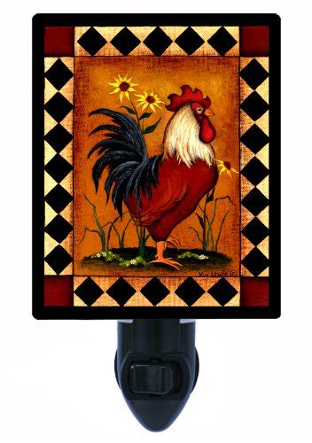 Night Light Red Rooster Country Kitchen All Things