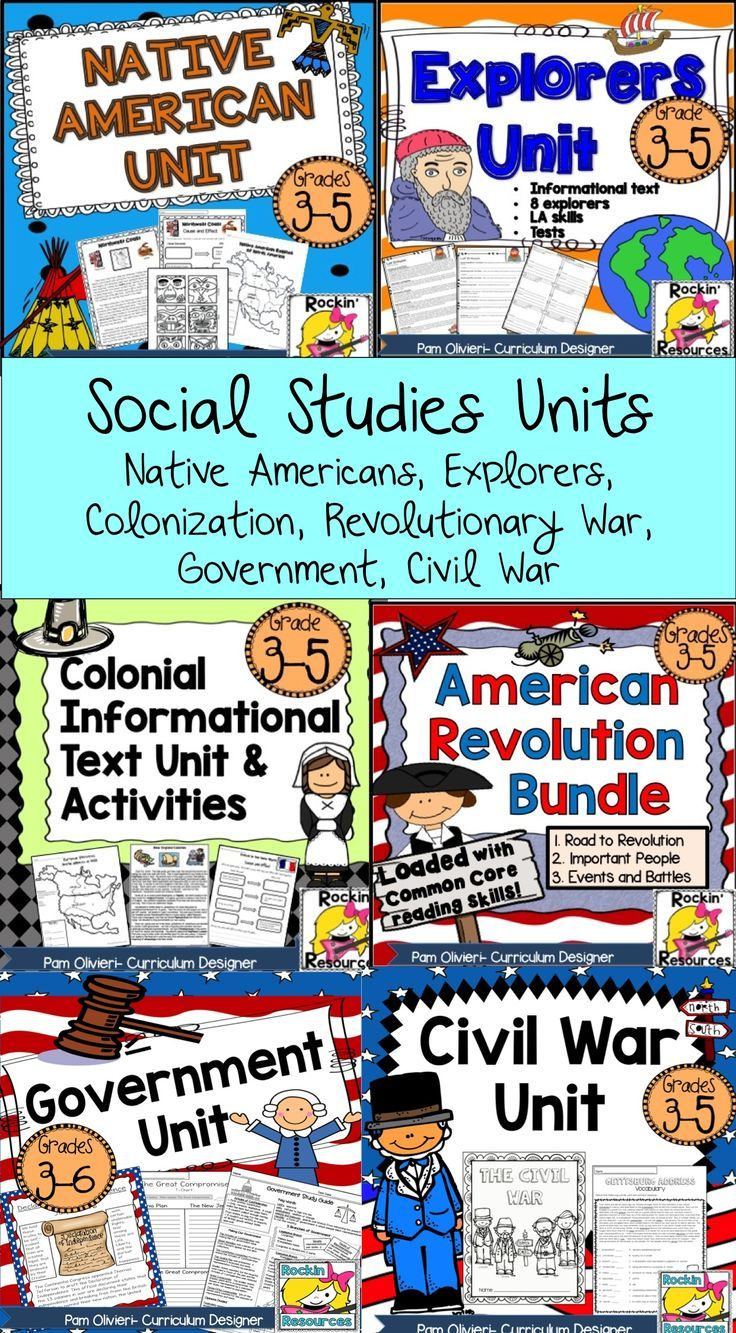 All of these Social Studies units are so easy to use! They are filled with informational text, activities, and projects! NO PREP- No need for text book! WESTWARD EXPANSION ADDED!