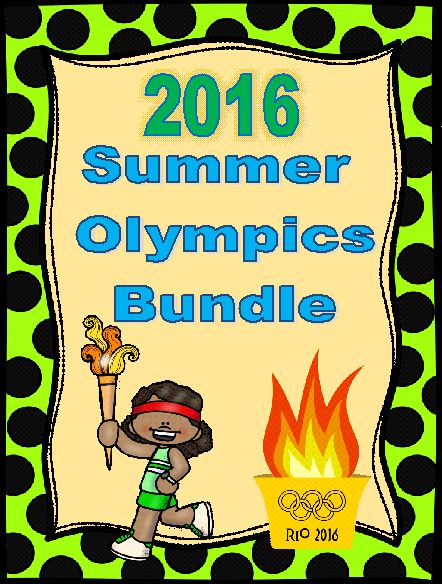 The 2016 Summer Olympic Games are coming SOON! Rio de Janeiro, Brazil will be the exciting location for the games this year.  Why not learn about this exciting event in a fun and creative way? This BUNDLE includes the 2016 Summer Olympics Lapbook, 2016 Summer Olympics Sporting Events Interactive Foldable, and Summer Olympics Coloring & Writing Prompts all at one low, discounted price.