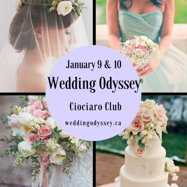 The Wedding Odyssey expo will be taking place January 9 & 10 at the Ciociaro Club, Windsor Ontario.  Register online at www.weddingodyssey.ca to receive a $2 off admission coupon.  #windsorweddingshow